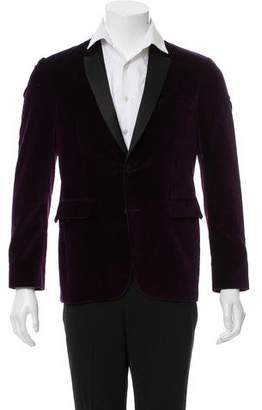 Burberry Velvet Woven Two-Button Blazer