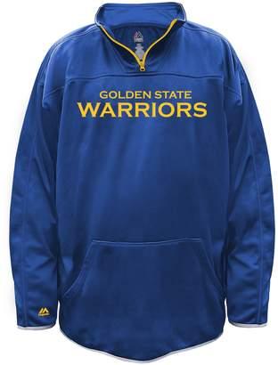 Majestic Big & Tall Golden State Warriors Birdseye Pullover