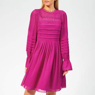 Ted Baker Women's Arrebel Lace Trim Volume Sleeve Dress