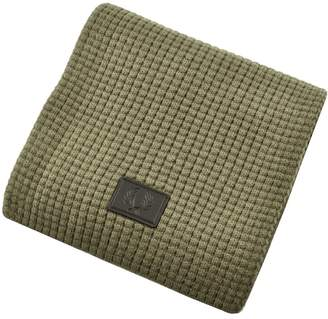 Fred Perry Waffle Knit Scarf Green