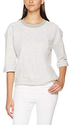 Nümph Women's Njala Sweatshirt, Light Grey Melange, Medium