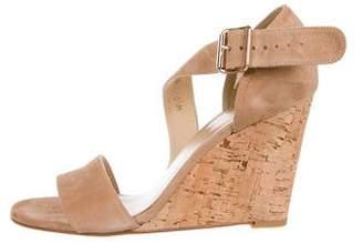 Stuart Weitzman Suede Cork Wedge Sandals w/ Tags