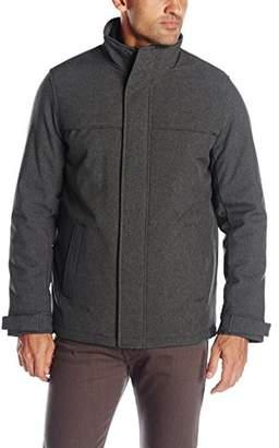 Dockers Soft Shell Stand Collar Zip Front Jacket W. Attached Fleece Bib