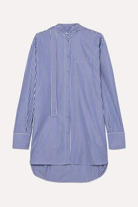45c5a1f7afb Valentino Oversized Striped Cotton-poplin Shirt - Blue