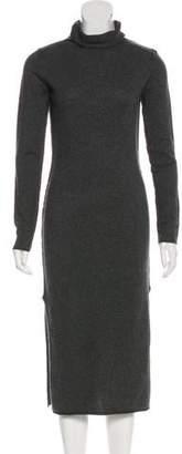 Line Wool Midi Dress