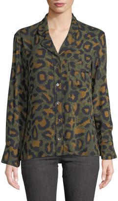 Zadig & Voltaire Tacha Button-Down Leopard-Print Blouse
