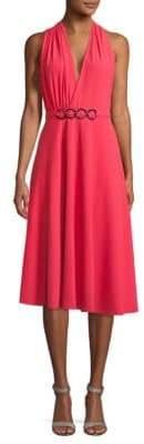 Halston V-Neck Knee-Length Dress