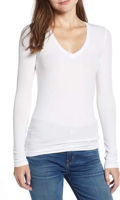Splendid Ribbed V-Neck Tee