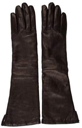 Barneys New York Barney's New York Leather Driving Gloves