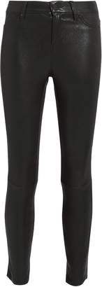 L'Agence Adelaide Black Leather Pants