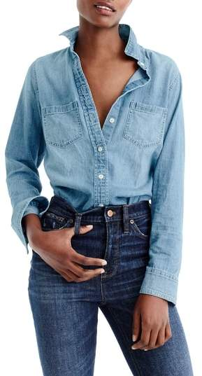 Women's J.crew Everyday Chambray Shirt