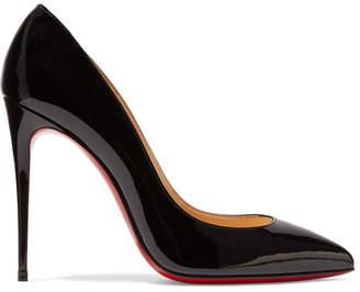 Christian Louboutin - Pigalle Follies 100 Patent-leather Pumps - Black $675 thestylecure.com