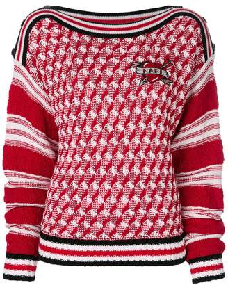 Karl Lagerfeld applique patch jumper