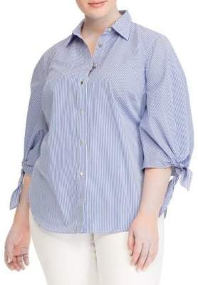 Lauren Ralph Lauren Plus Plaid Button-Down Shirt