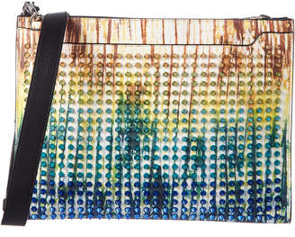 Christian Louboutin Tie Dye Studded Leather Skypouch