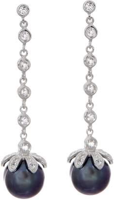Honora Cultured Pearl Line Drop Earrings, Sterling