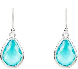 Latelita London - Petite Drop Earring Silver Blue Topaz