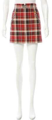 Rag & Bone Plaid Mini Skirt w/ Tags