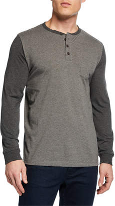 Unsimply Stitched Men's Pocket Baseball Henley Shirt