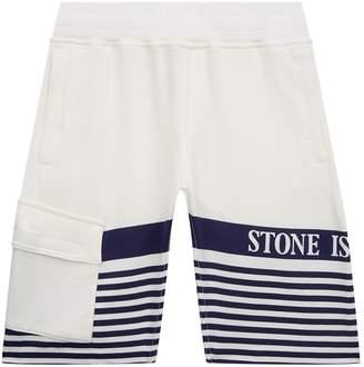Stone Island Junior Stripe Print Shorts