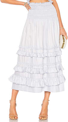 Rebecca Taylor Cotton Midi Skirt
