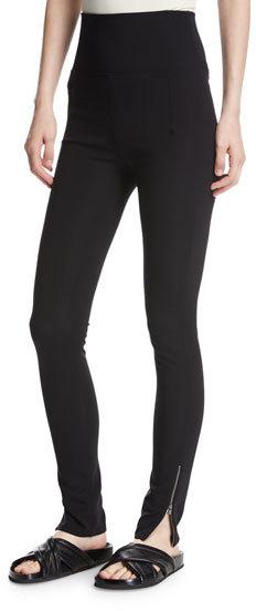 Helmut LangHelmut Lang High-Waist Technical Zip Leggings, Black