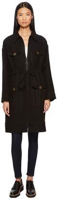 Sonia Rykiel Manteau Washed Linen Jacket Women's Coat