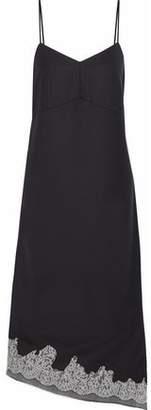 Tibi Lou Lou Corded Lace-Trimmed Crepe Dress