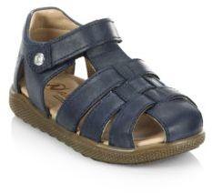 Naturino Toddler's & Kid's Naturino Gene Leather Velcro Sandals $83 thestylecure.com
