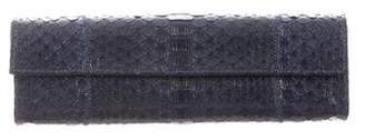 Carlos Falchi Fatto a Mano by Python Flap Clutch