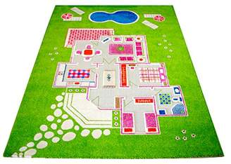 "Little Helper Play INGH 16 ""Green '80150 IVI Exclusive Hypoallergenic Thick 3D Children's Play Mat"