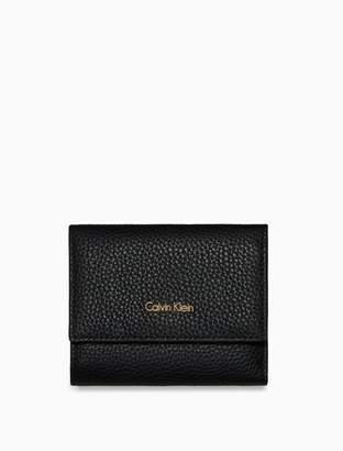 Calvin Klein pebble leather medium trifold wallet