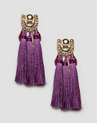 Asos Statement Chain Stud and Tassel Earrings