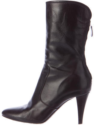Cole Haan Cole Haan Leather Round-Toe Ankle Boots