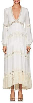 Philosophy di Lorenzo Serafini Women's Crochet-Trimmed Maxi Dress - White