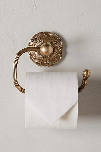 Brass Lillia Towel Bar