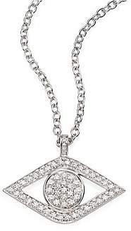 Sydney Evan Women's XL Luxe Evil Eye Diamond& 14K White Gold Pendant Necklace