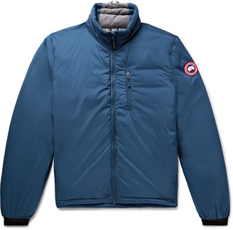 Canada Goose Lodge Slim-Fit Nylon-Ripstop Hooded Down Jacket - Men - Blue