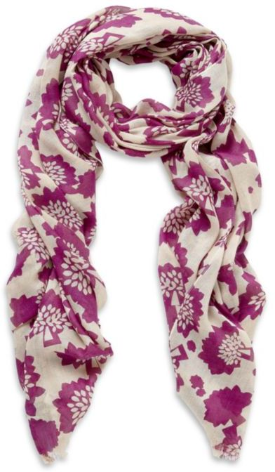 Mulberry Floral Tree Scarf