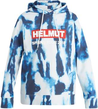 Helmut Lang Bleacher printed cotton hooded sweatshirt