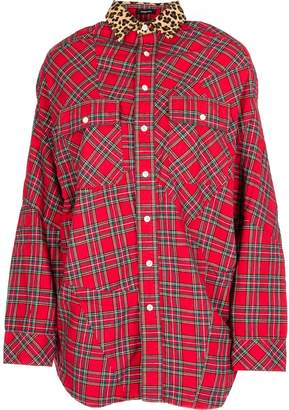 R 13 Tartan Patchwork Shirt