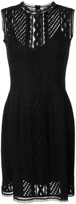 Ermanno Scervino embroidered fitted dress