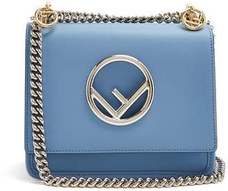 Fendi Kan I Logo small leather cross-body bag