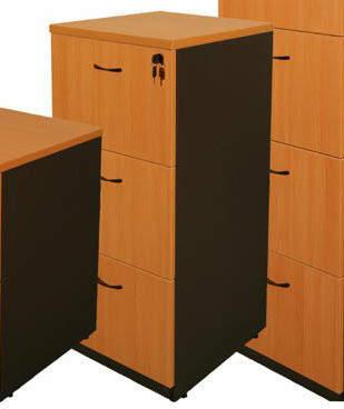 Logan Cooper Three-Door Filing Cabinet