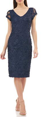 043ae193ab0a1 $148 JS CollectionsSoutache Embroidered V-Neck Cocktail Dress
