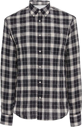 Officine Generale Japanese Check Button-Down Shirt