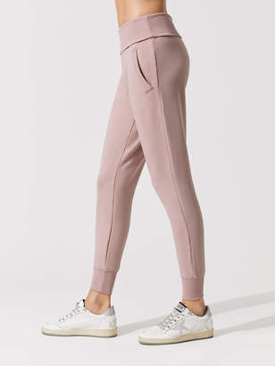 Cozy Fleece Foldover Long Sweatpant