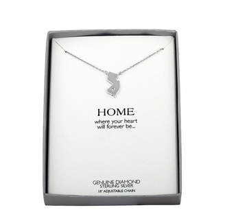FINE JEWELRY Diamond Accent Sterling Silver New Jersey Pendant Necklace