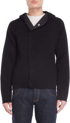 Emporio Armani Black Hooded Knit Jacket