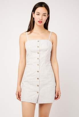 Azalea Mini Stripe Button Down Dress